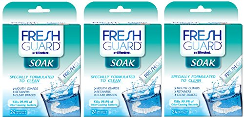 (Fresh Guard by Efferdent Soak Crystals | 24 Count | 3)