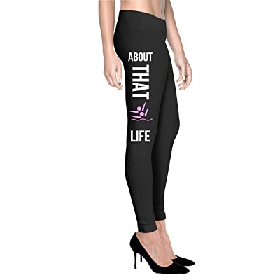 Printed Leggings Synchronized Swimming Life - Women Comfort Fit Legging - Black
