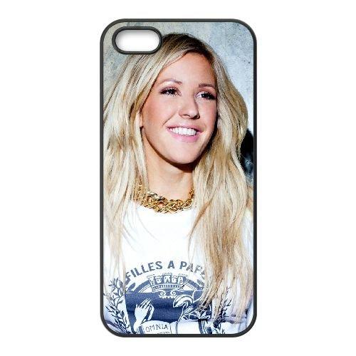 Ellie Goulding 001 coque iPhone 5 5S cellulaire cas coque de téléphone cas téléphone cellulaire noir couvercle EOKXLLNCD23469