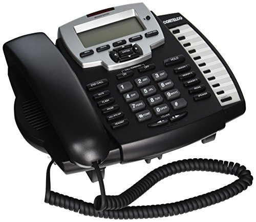 Single Speakerphone Backlit Line Display - Cortelco Model ITT-9125 Caller ID Corded Single Line Multi-feature Telephone