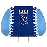 Promark Kansas City Royals PRINTED Full Color 2-pack Head Rest Covers Elastic Auto Baseball