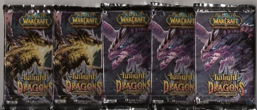 World of Warcraft TCG TWILIGHT of the DRAGONS lot of 5 booster packs