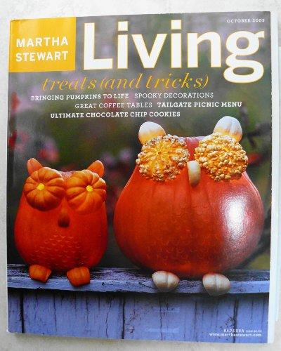 Martha Stewart Living Magazine October 2003 Halloween, Spooky Decorations, Tailgage Picnic Menu, Bakelite Utensils