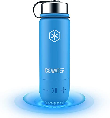 ICEWATER 3-in-1 Smart Stainless Steel Water Bottle Glows to Remind You to Stay Hydrated Bluetooth Speaker Dancing Lights,20 oz,Stay Hydrated and Enjoy Music,Great Gift