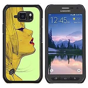 Lèvres - Metal de aluminio y de plástico duro Caja del teléfono - Negro - Samsung Galaxy S6 active / SM-G890 (NOT S6)