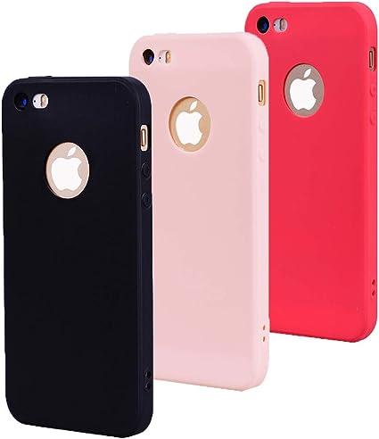 CoverTpu 3X Coque iPhone 5s Silicone iPhone 5 Ultra Mince Couleur Unie TPU Étui Antichoc Protection Bumper Ultra Léger Soft Flexible Antirayures Case ...