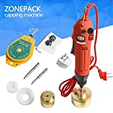 ZONEPACK Manual Electric Bottle Capping Machine Handheld Cap Sealer Sealing Machine 10-50mm Capping Diameter Bottle Capper Sealer Screwing Sealing Machine (110V)