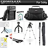 Advanced Accessory Kit For Sony Cyber-shot DSC-RX100M IV, DSC-RX100 IV, HX400V/B, DSC-HX300/BC Digital Camera Includes Replacement NP-BX1 Battery + Charger + Case + 57 Tripod + Monopod + Much More!