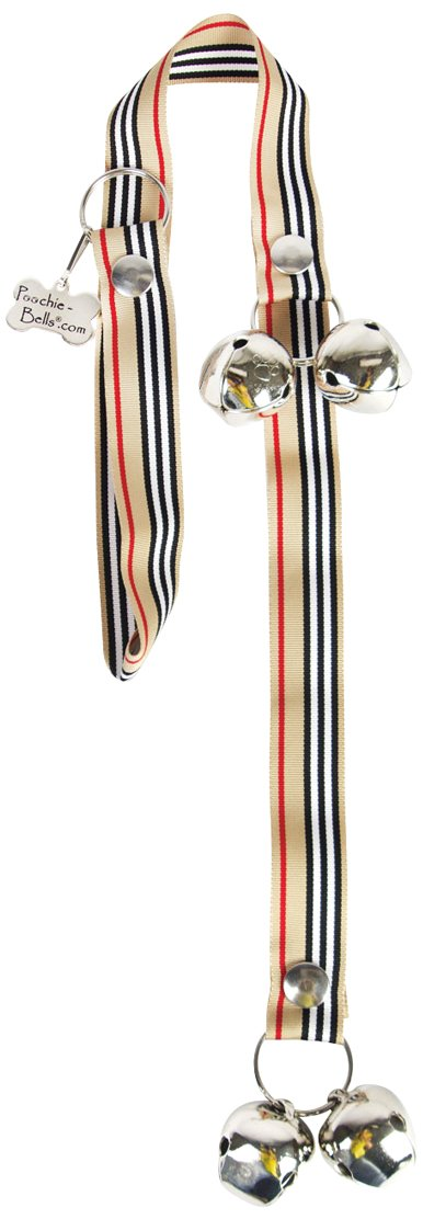 PoochieBells Dog Potty Training Doorbell, London Stripe by PoochieBells (Image #2)