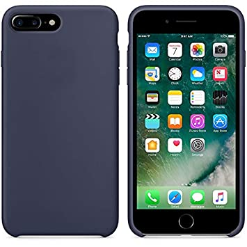 Funda iPhone 8 Plus, Fuleadture iPhone 7 Plus Slim Líquido de Silicona Gel Carcasa Alta Calidad Anti-Rasguño y Resistente Totalmente Protectora Caso ...