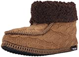 MUK LUKS Women's Women's MOC Boot W/Cuff Promo-Camel Shoe, Brown, Medium (7-8) M US