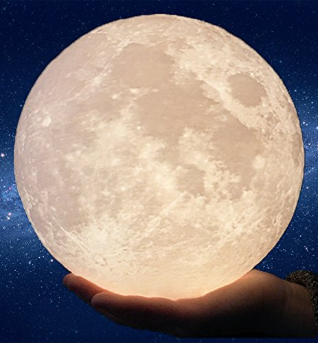 Super Large!!! Gahaya 8.7 Inch ELITE EDITION Moon Lamp, 3D Printed Light, Touch Control, Stepless Dimmable, Warm White & Cool White, PLA material, USB Recharge