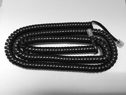 - The VoIP Lounge Replacement 25 Foot Long Black Handset Curly Cord for AT&T Lucent Avaya Merlin Business Phone