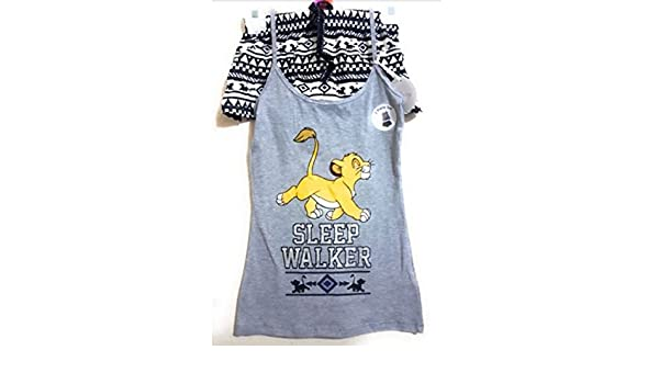 Primark Ladies Girls Womens Disney Lion King Simba cami Vest & Short Set Pyjamas Pajamas Pj Set UK S-XL (UK M 10-12) at Amazon Womens Clothing store: