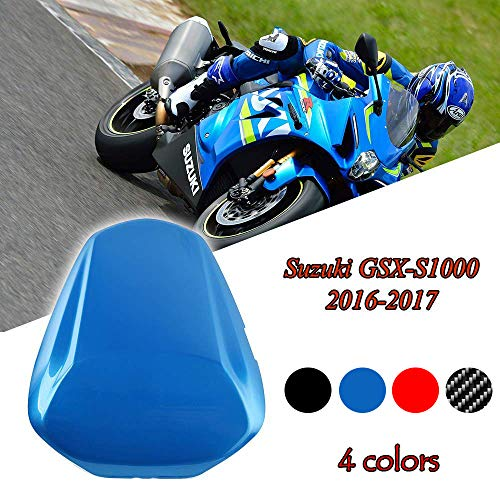 FATExpress Motorcycle Aftermarket Plastic Rear Passenger Pillion Solo Seat Cowl Hard ABS Motor Fairing Tail Cover for 2016-2018 Suzuki GSX-S GSXS 1000 GSXS1000 2017 16-18 (Carbon Fiber Look)