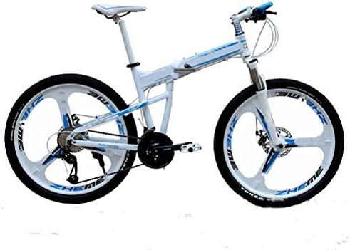MASLEID Bicicleta de montaña de Aluminio Plegable de 27 Motos ...