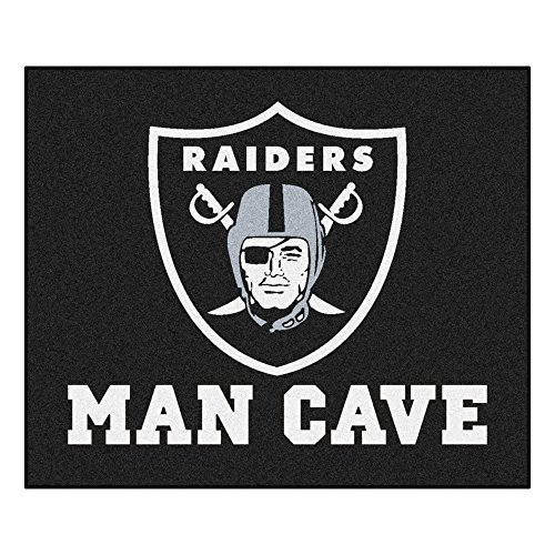FANMATS 14351 NFL Oakland Raiders Nylon Universal Man Cave Tailgater Rug