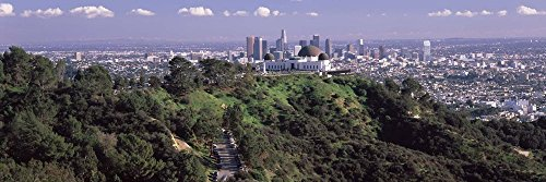 Griffith Park Observatory and Los Angeles in The Background, California by Panoramic Images Art Print, 33 x 11 ()