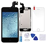 iphone 4 color front glass - Coobetter Full Assembly Replacement Screen for iPhone 5C Black LCD Display Touch Screen Digitizer with Front Camera + Ear Speaker + Facing Proximity Sensor + Repair Tools