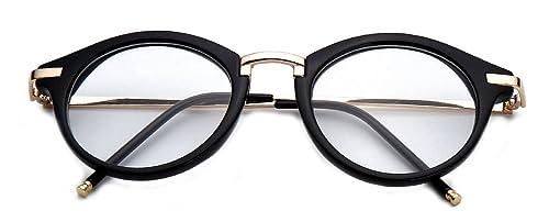 3930d0f176d GAMT Round Hipster Glasses Clear Full Frame Eyeglasses for Men and Women