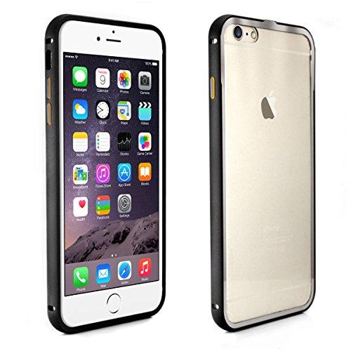 Alienwork Schutzhülle für iPhone 6 Stoßfest Hülle Case Bumper Ultra-flach Aluminium schwarz AP632-01