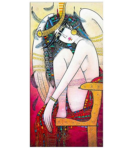 [Niwo ART (TM) - Red sexy lady - Ballet Dancing Series. Modern Abstract Oil Painting Reproduction. Giclee Canvas Prints Wall Art for Home Decor, Stretched and Framed Ready to] (Dragon Lady Sexy Costumes)