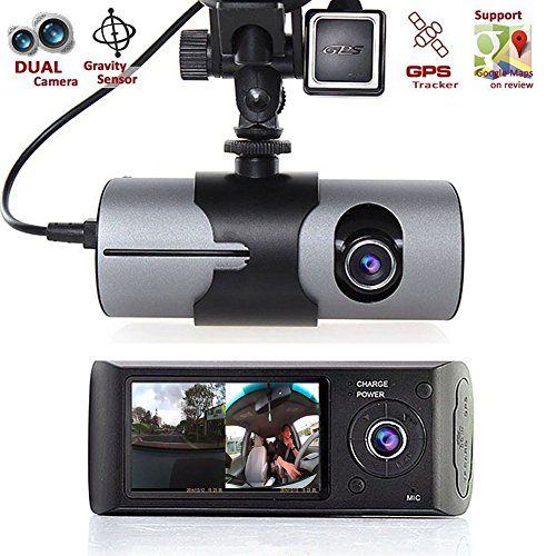 Dual Lens Car DVR, 2.7