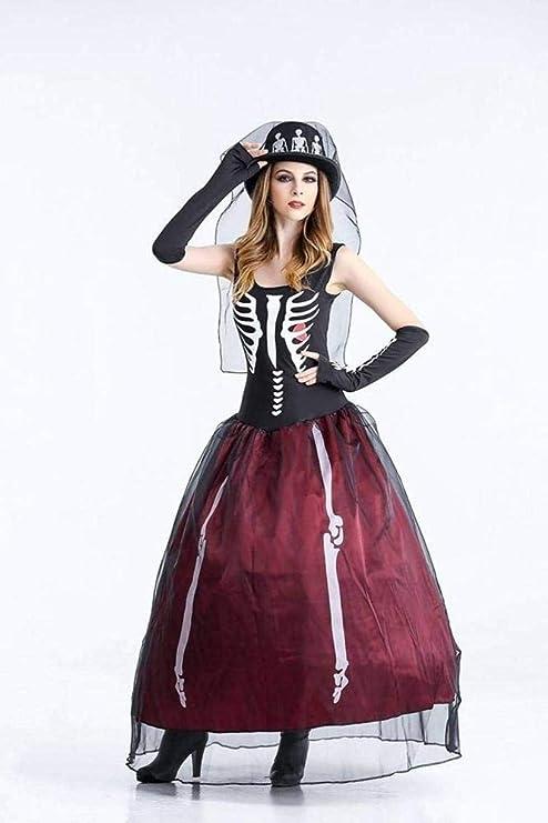 RAXYQ Disfraz De Halloween Fantasma Festival Calavera Cabeza ...