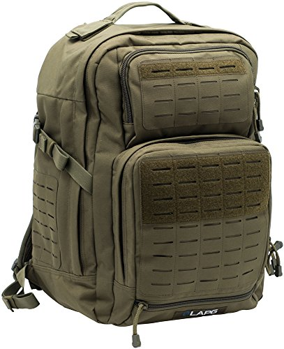 Police Green (LA Police Gear Atlas 24 Hour Tactical Backpack - OD)