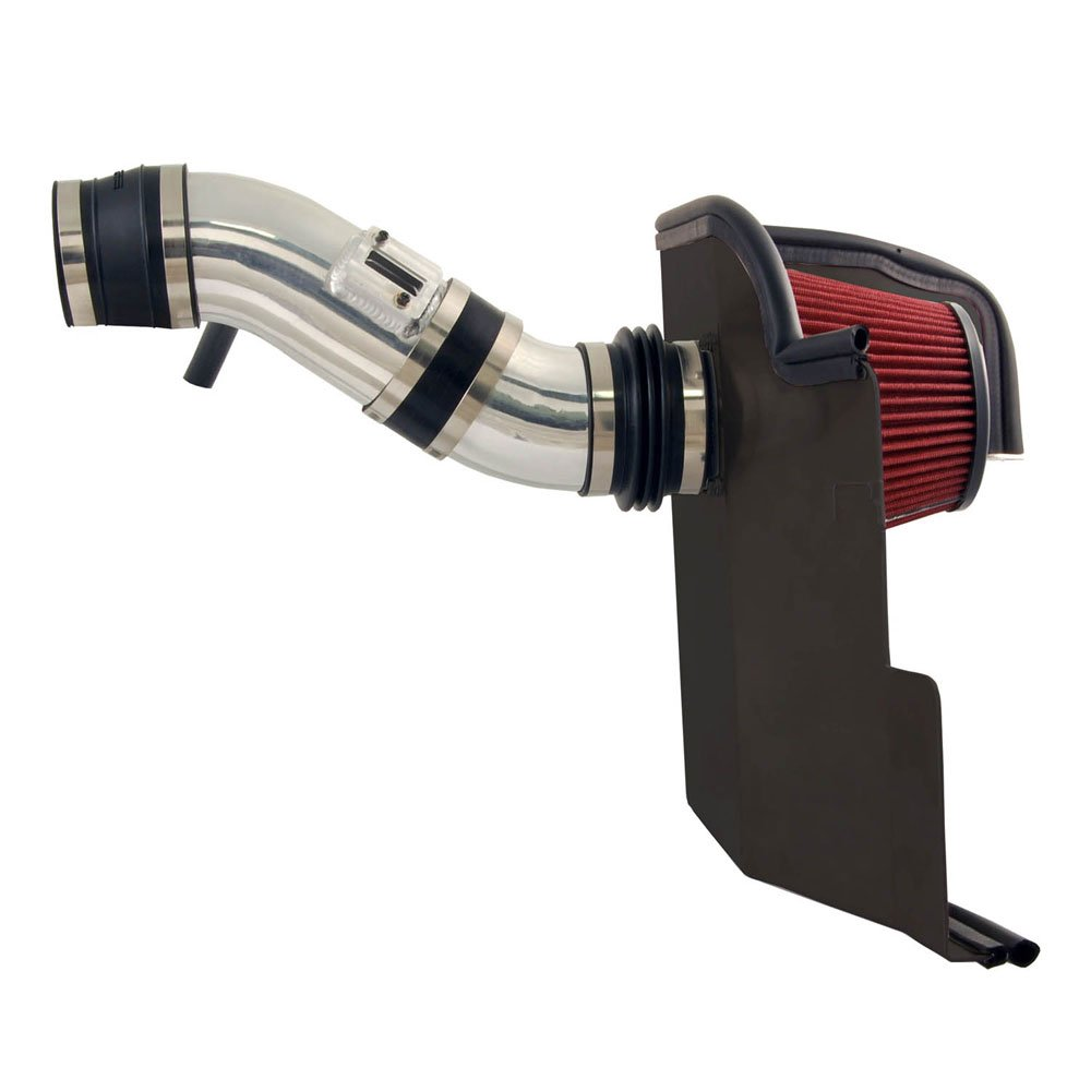 Spectre Performance Air Intake Kit with Washable Air Filter: 2011-2014 Ford Mustang, 3.7L V6,  Red Oiled Filter with Polished Aluminum Tube, SPE-9929 by Spectre Performance