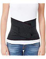 ORTONYX Lumbar Support Belt Lumbosacral Back Brace – Ergonomic Design and Breathable Material / ACKB724-BK