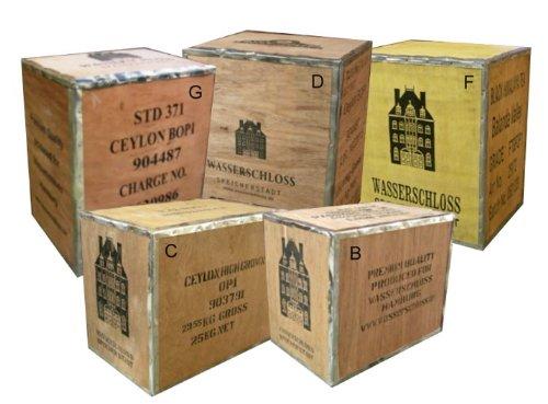 Original Teekiste Holz Kiste Nachttisch Tisch Dekoration Loft Mbel Aus Bersee Ceylon High Grown Amazonde Kche Haushalt