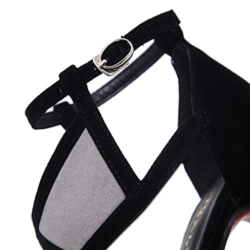 Shoes Strap Fine Shoes Versatile And Black Sexy Fish Sandals Terrace Cross Heeled Summer Butt Heel The Mouth With Exposed High High And WHL xIdHSZS