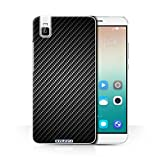 STUFF4 Phone Case / Cover for Huawei Honor 7i/ShotX / Grey Design / Carbon Fibre Effect/Pattern Collection