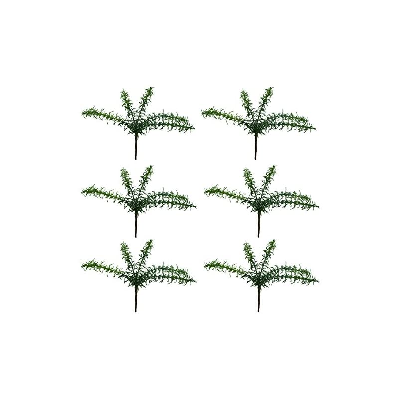 """silk flower arrangements lily garden 12"""" artificial rosemary soft plastic- package of 6"""