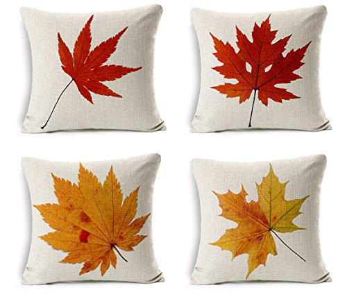- Happy autumn Thanksgiving Decorations Maple Leaves Cushion Covers, 18