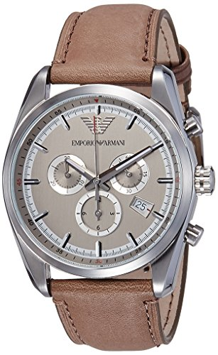 Emporio Armani Men's AR6040 Sport Tan Leather Watch