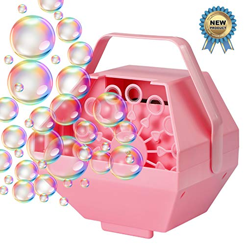 Sprite Beat Bubble Machine for Kids Automatic Bubble Blower Portable Wedding Bubbles Maker Penguin Bubble Machine for Kids, Birthday Party (Pink) -