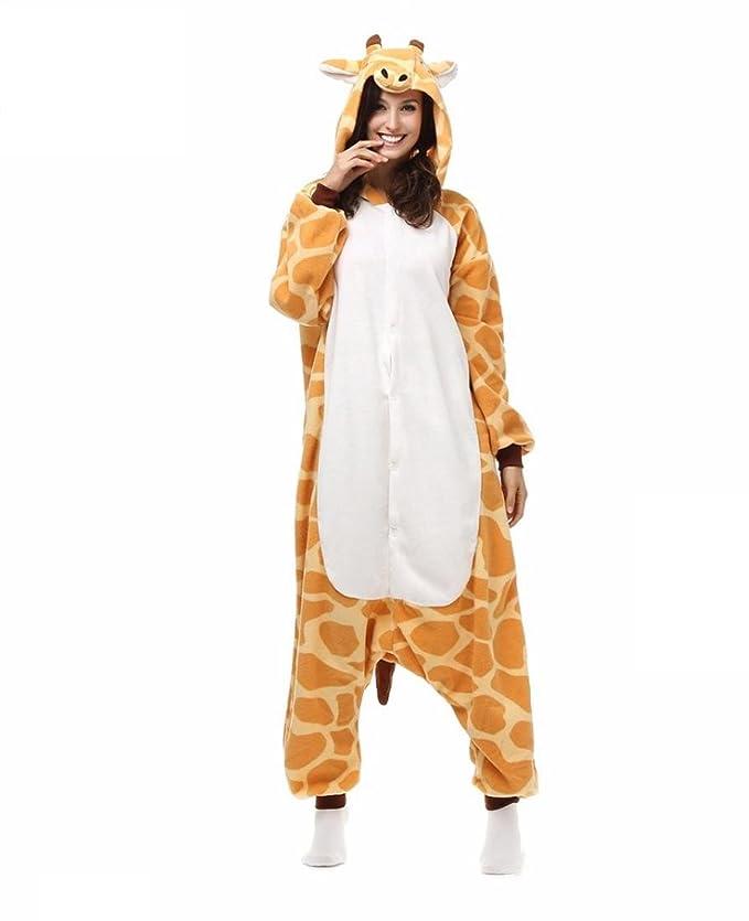 Amazon.com : HYY@ Kigurumi Pajamas Giraffe Leotard/Onesie Halloween Animal Sleepwear Yellow Patchwork Polar Fleece Kigurumi UnisexHalloween / Christmas ...