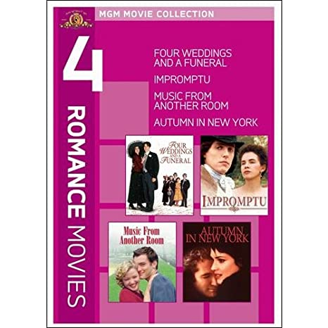 Amazon 4 Romance Movies Four Weddings And A Funeral Impromptu Music From Another Room Autumn In New York TV