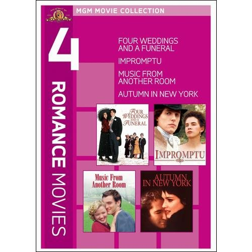 4 Romance Movies (Four Weddings and a Funeral/Impromptu/Music From Another Room/Autumn in New York)