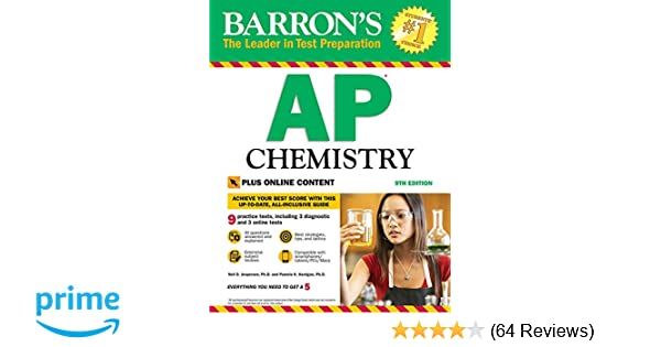 Barron S AP Chemistry With Online Tests