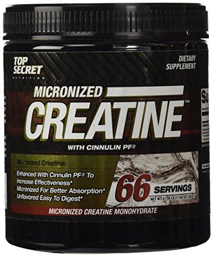 Top Secret Nutrition Micronized Creatine Grams, 330 Gram