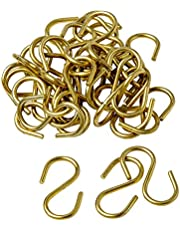 "Brady 23304 1-1/2"" Size Solid Brass""S"" Hook (Pack of 100)"