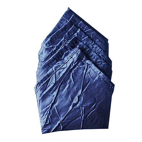 BalsaCircle 20 pcs 20-Inch Navy Blue Crinkled Taffeta Dinner Napkins - for Wedding Party Events Restaurant Kitchen -