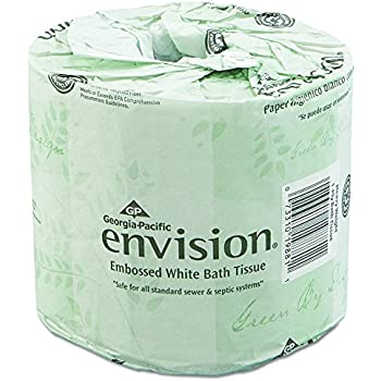 Georgia pacific envision 19880 01 white 2 ply embossed bathroom tissue length Boardwalk 6145 bathroom tissue
