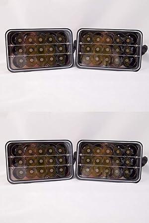 4PCS 4x6 LED Headlights for Kenworth T400 T600 T800 W900L W900B Classic 120//132