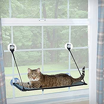 "K&H Pet Products EZ Mount Window Kitty Sill Gray 12"" x 23"""