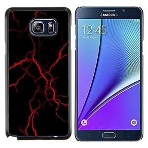 EJOOY---Cubierta de la caja de protección para la piel dura ** Samsung Galaxy Note 5 5th N9200 ** --rojo relámpago