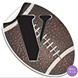 "Wall Decals Letter "" V "" Football Baby Name Decal"